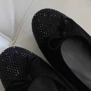 Stuart Weitzman Shoes - NWOT Stuart Weitzman Embellished Suede Ballet Flat